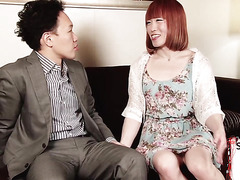 Japanese trans beauty drilling her bf