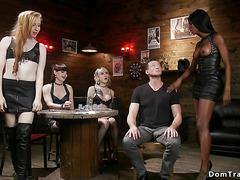Interracial shemales group anal fucking