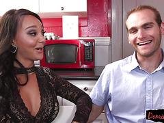 Amazing transgender babe gets cocksucked