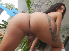 Tranny Hottie Pamella Surfistinha Pleases Herself