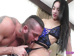 Thai Ladyboy getting a real good fuck