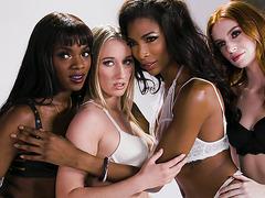 Transgender Lingerie Model Does It With a Nice Ebony Female - Ana Foxxx, Natassia Dreams