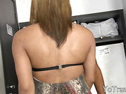 Blonde Tgirl Suzi Barreto suck cock and anal penetrated