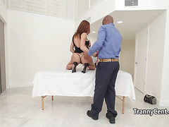 Tgirl surprised with big black johnson