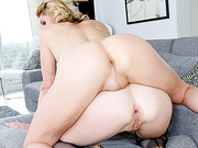 Leggy big boobs shemale Delia DeLions joins horny couple