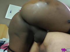 Ebony big cock tgirl rams ass