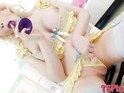 Big booty TS Sarina Valentina anal banged with horny guy