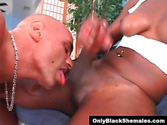 Aimee Lee jerks her cock to a big orgasm