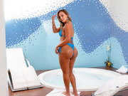 TS Caroline Ponciano in the pool