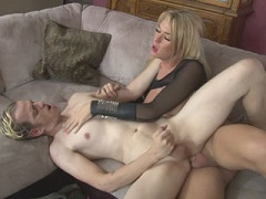 Hot shemale Aubrey Kate fucks horny guy