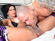 Transbabe Nathany Gomes gets her ass screwed by a mighty dick