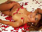 young ladyboy is playing her dick