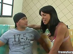 brazilian ts picked up on the streets of rio pounded up her tight ass cumfaced