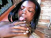 black shemale Paris and her massive dick