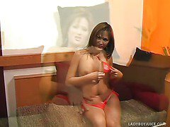 Perfect Natural Boobs On Pretty Ladyboy