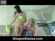 Muriel&Randolph pussyclothed dude strapon action
