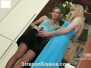 Emilia&Connor strapon pussyclothed sex movie