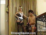 Irene&Jack female clothed couple on video