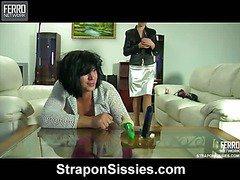 Alana&Monty strapon sissysex movie