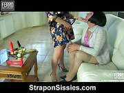 Alana&Monty malewhore videotaped while straponfucked