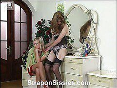 Trinity&Maurice strapon pussyclothed sex action