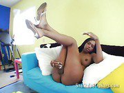 Black American Jade shemale and her big cock