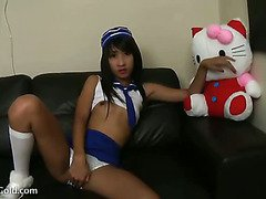 charming ladyboy and her smooth body