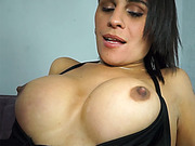 Tranny from Brazil loves to get nailed in her big booty