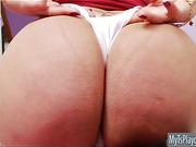 Huge tits TS Paula D Avila masturbates