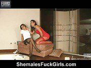 Patricia&Amanda tranny dicking gal on video