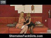 Angel&Sabrina shemale fucking girl on video