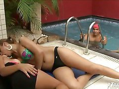 shemale sex party by the pool part 1