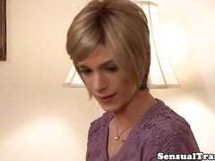 Bigtitted tranny passionate kissed by lover
