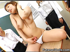 Futanari Reveals Her Cock at School!