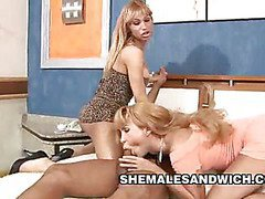 Fucked By Two Shemales