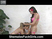 Isabela&Sandra shemale fucking girl on video
