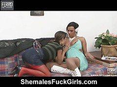 Camila&Bela shemale fucking lady on video