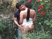 big tit juicy shemale is outdoors sucked