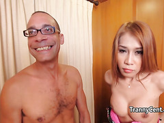 Redhead tranny nailed with big cock