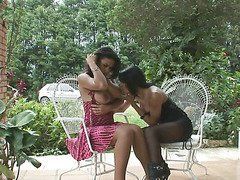 two hot looking shemales fucking outdoors 2