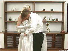 amazing blonde shemale bride part 1