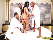 latin cumcovered shemale with big butt groupfucked