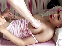 TS Filipina Intense Homemade Anal Sex And Drank Cum