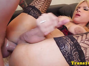 bigbutt chica tranny riding dick for cash