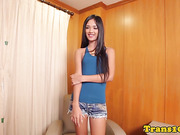 ladyboy hottie doggystyled in tight butt