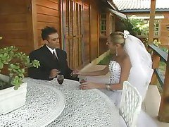 sweet blonde shemale bride on her lover 1