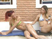 redhead shemale outdoors pussy fucking 1