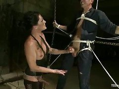 Shemale Morgan Bailey domination scene 9