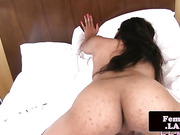 solo ebony fembois spreads ass and jerksoff