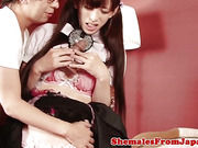 Perkytitted Jap cosplay tranny asspounded